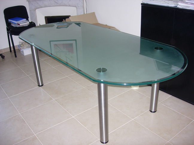 Sablart mobilier for Table de bureau en verre